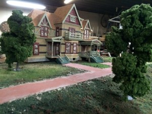 O scale size model of the Hearthstone house. built by ? in early 90s