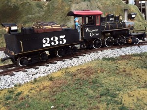 Al custom painted the WC Steam engine on display at Hearthstone. And yes 235 WC engine did run along this line in the flats in 1882.